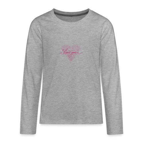 In kalk letters - T-shirt manches longues Premium Ado