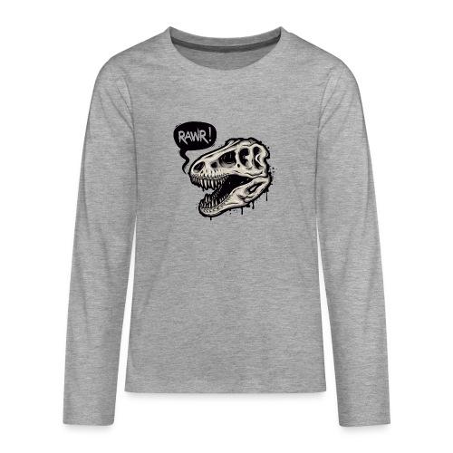 DINO RAWR 1 - Camiseta de manga larga premium adolescente