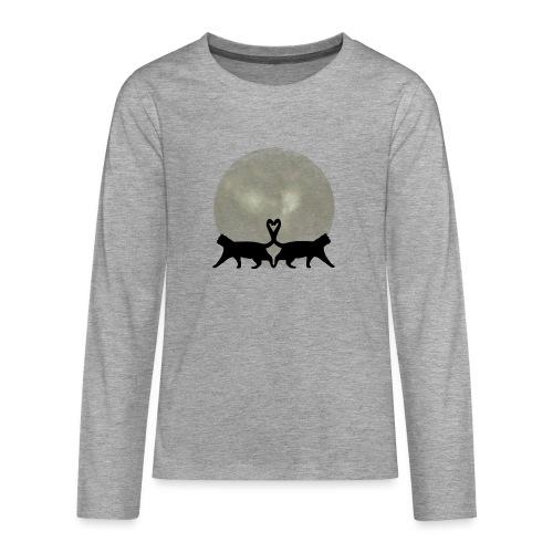 Cats in the moonlight - Teenager Premium shirt met lange mouwen