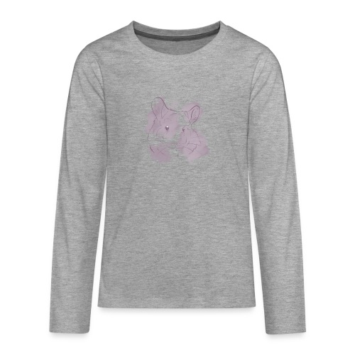 Violet splash chinchilla 2 - Teinien premium pitkähihainen t-paita