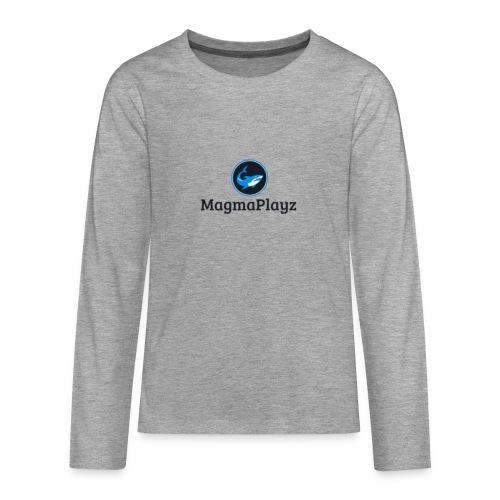 MagmaPlayz shark - Teenager premium T-shirt med lange ærmer