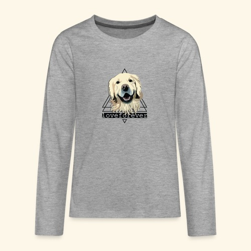 RETRIEVER LOVE FOREVER - Camiseta de manga larga premium adolescente