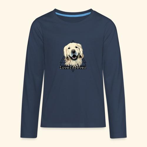 RETRIEVER LOVE FOREVER - Camiseta de manga larga premium adolescente