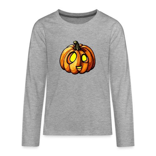 Pumpkin Halloween watercolor scribblesirii - Teenager Premium Langarmshirt