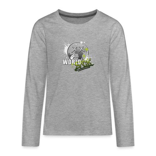 world sick - Teenager Premium Langarmshirt