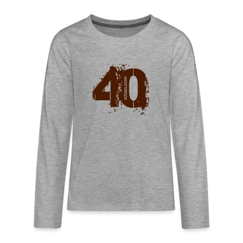 City_40_Düsseldorf - Teenager Premium Langarmshirt