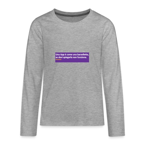 barzelletta - Maglietta Premium a manica lunga per teenager