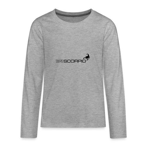scorpio logo - Teenager Premium shirt met lange mouwen