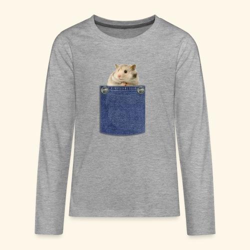 hamster in the poket - Maglietta Premium a manica lunga per teenager