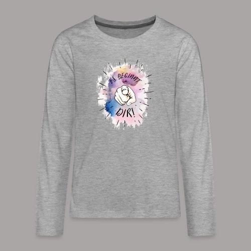 shirt bunt tshirt druck - Teenager Premium Langarmshirt