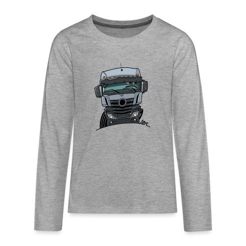 0807 M Truck grijs - Teenager Premium shirt met lange mouwen