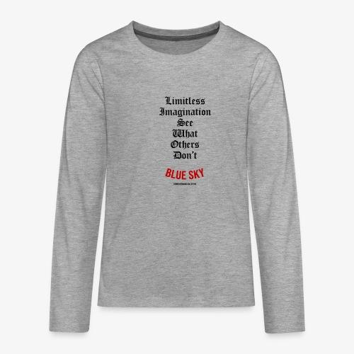 Limitless Imagination Zwart - Teenager Premium shirt met lange mouwen