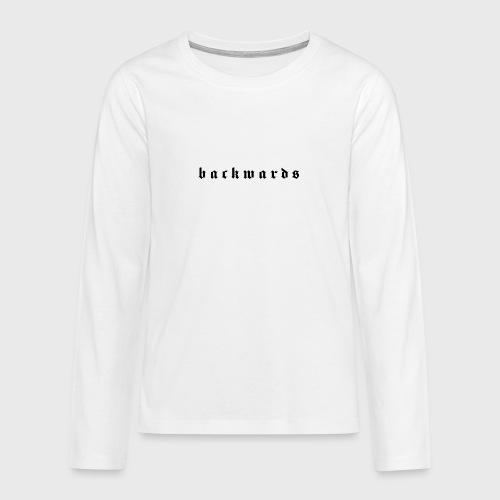 Backwards - Teenager Premium shirt met lange mouwen