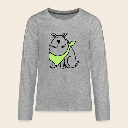 Bouledogue mignon - T-shirt manches longues Premium Ado