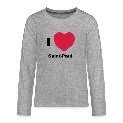 i love sainte paul - T-shirt manches longues Premium Ado