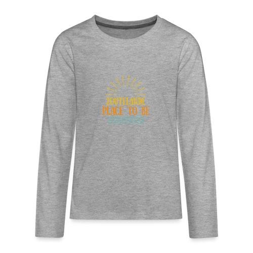 Zoutelande - Place To Be - Teenager Premium Langarmshirt