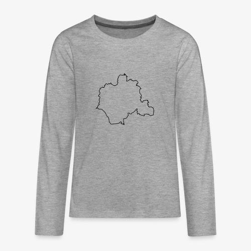 Kontur des Kreises Lippe - Teenager Premium Langarmshirt