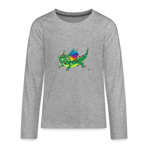 happy dragon - Teenager Premium Langarmshirt