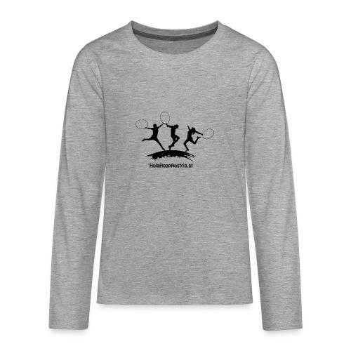 Jumping Shadow Black - Teenager Premium Langarmshirt