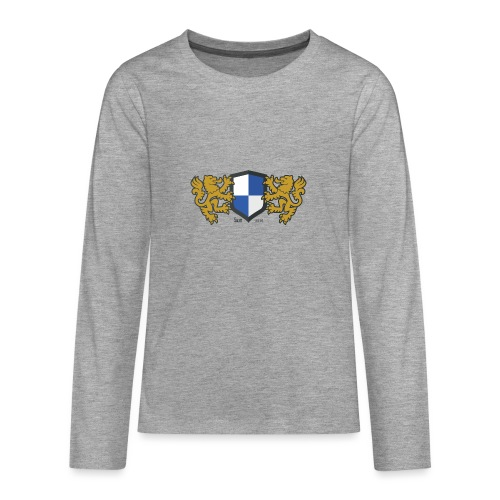 loewen wappen blau weiss - Teenager Premium Langarmshirt