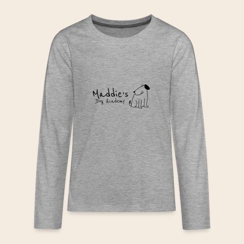 Académie des chiens de Maddie (noir) - T-shirt manches longues Premium Ado
