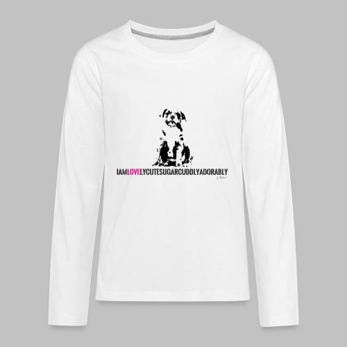 FRANZÖSISCHE BULLDOGE - WELPEN - LOVE - Teenager Premium Langarmshirt