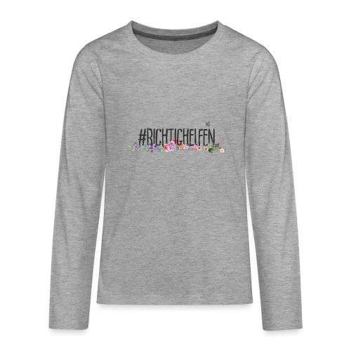 Richtig Helfen - Teenager Premium Langarmshirt