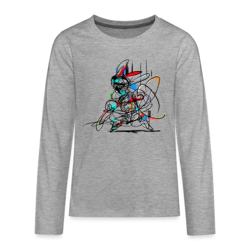 Ninja fighter Easter Bunny / Abstract - Teenagers' Premium Longsleeve Shirt