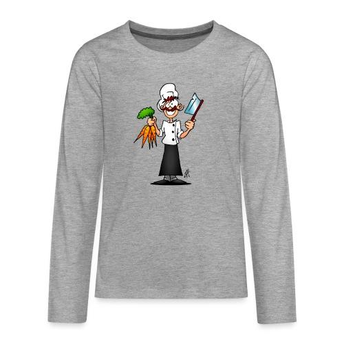 The vegetarian chef - Teenagers' Premium Longsleeve Shirt