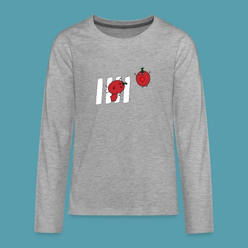 tomaatit - Teinien premium pitkähihainen t-paita