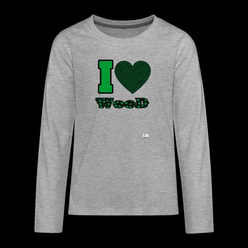 I Love weed - T-shirt manches longues Premium Ado