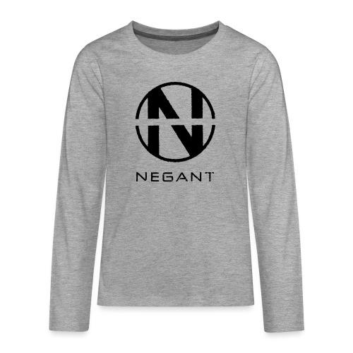 Black Negant logo - Teenager premium T-shirt med lange ærmer