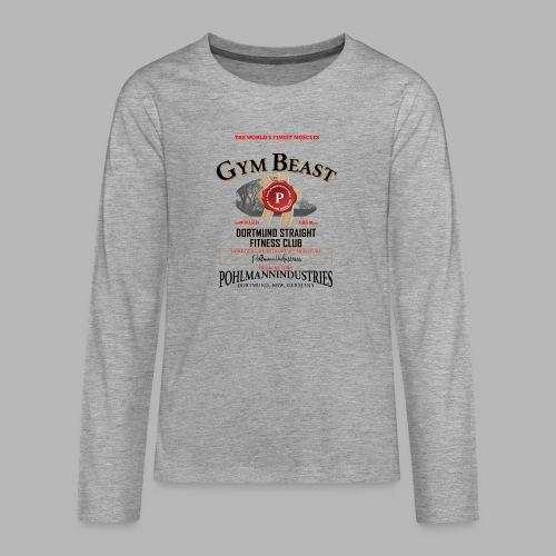 GYM BEAST - Teenager Premium Langarmshirt