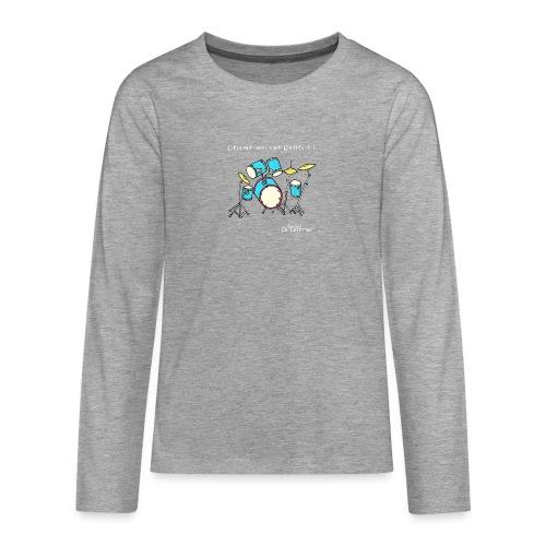 Luigi Drum White - Teenagers' Premium Longsleeve Shirt
