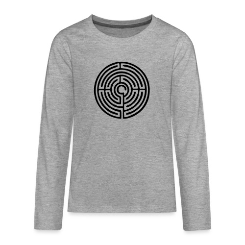Labyrinth Schutzsymbol Lebensweg Magie Mystik - Teenager Premium Langarmshirt