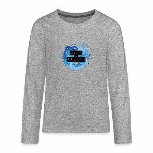Make a Splash - Aquarell Design in Blau - Teenager Premium Langarmshirt