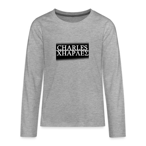 CHARLES CHARLES BLACK AND WHITE - Teenagers' Premium Longsleeve Shirt