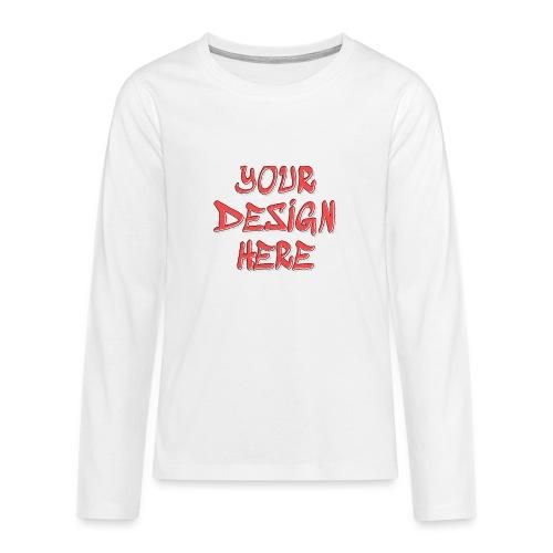 TextFX - Teenagers' Premium Longsleeve Shirt