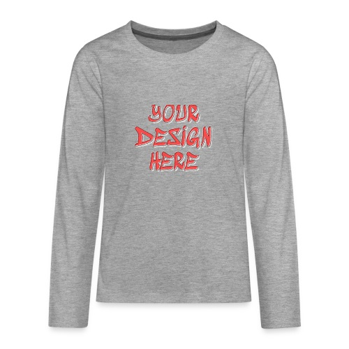 textfx - Långärmad premium T-shirt tonåring