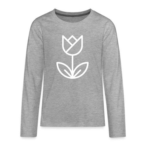 Tulip white png - Teenagers' Premium Longsleeve Shirt