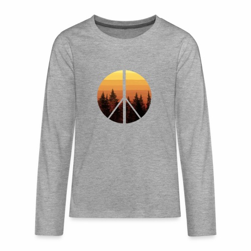 peace and sun - T-shirt manches longues Premium Ado