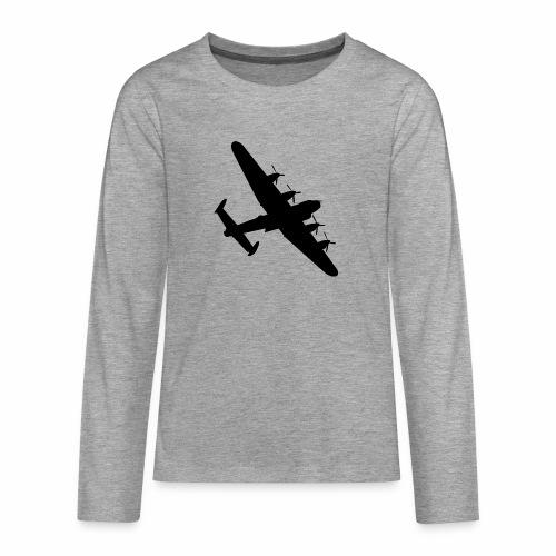 Bomber Plane - Maglietta Premium a manica lunga per teenager