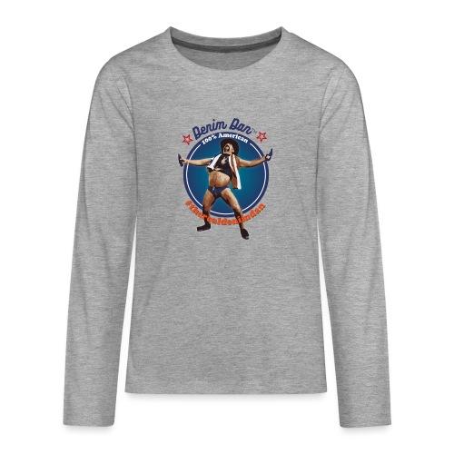 Denim Dan - Långärmad premium T-shirt tonåring