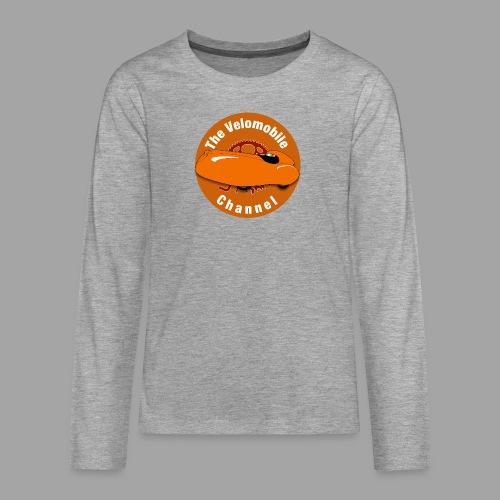 The Velomobile Channel logo - Teinien premium pitkähihainen t-paita
