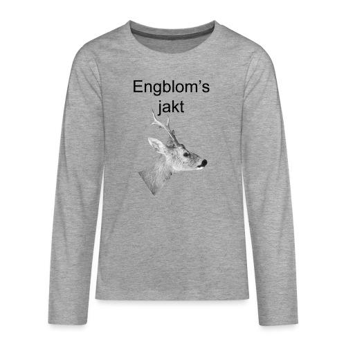 Officiell logo by Engbloms jakt - Långärmad premium T-shirt tonåring