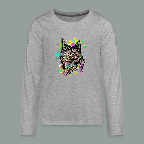 Bunte Katze - Teenager Premium Langarmshirt