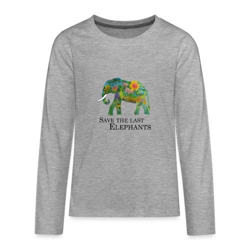Save The Last Elephants - Teenager Premium Langarmshirt