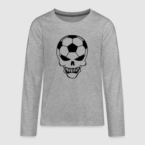 Fußball-Totenkopf - Teenager Premium Langarmshirt