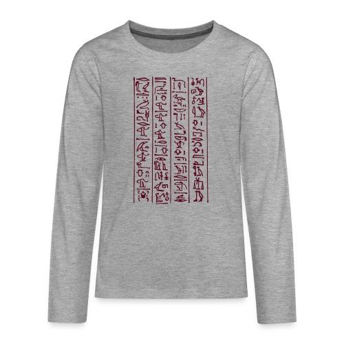 Hieroglyphen - Teenager Premium Langarmshirt