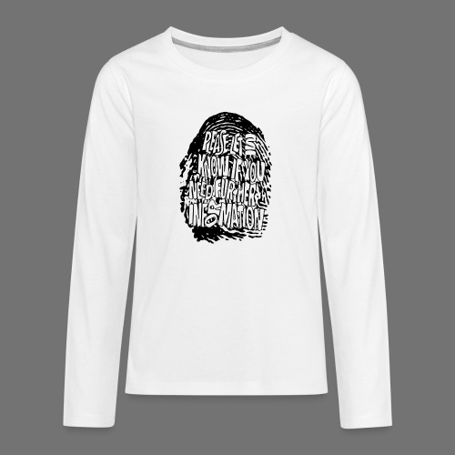 Fingerprint DNA (black) - Teenagers' Premium Longsleeve Shirt